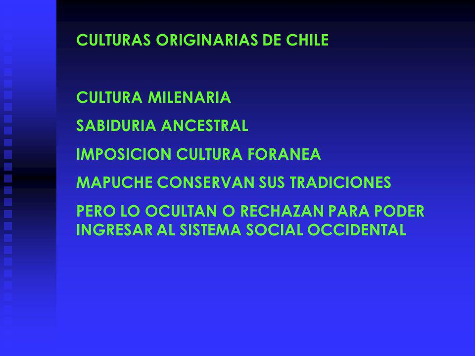 CULTURAS ORIGINARIAS DE CHILE
