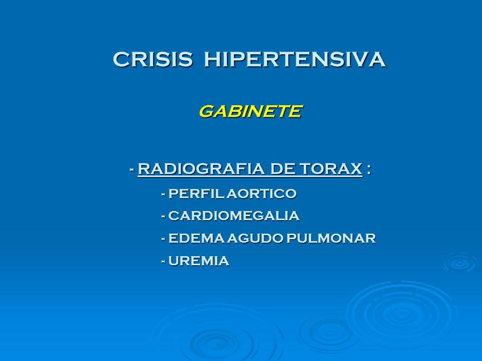 CRISIS HIPERTENSIVA GABINETE