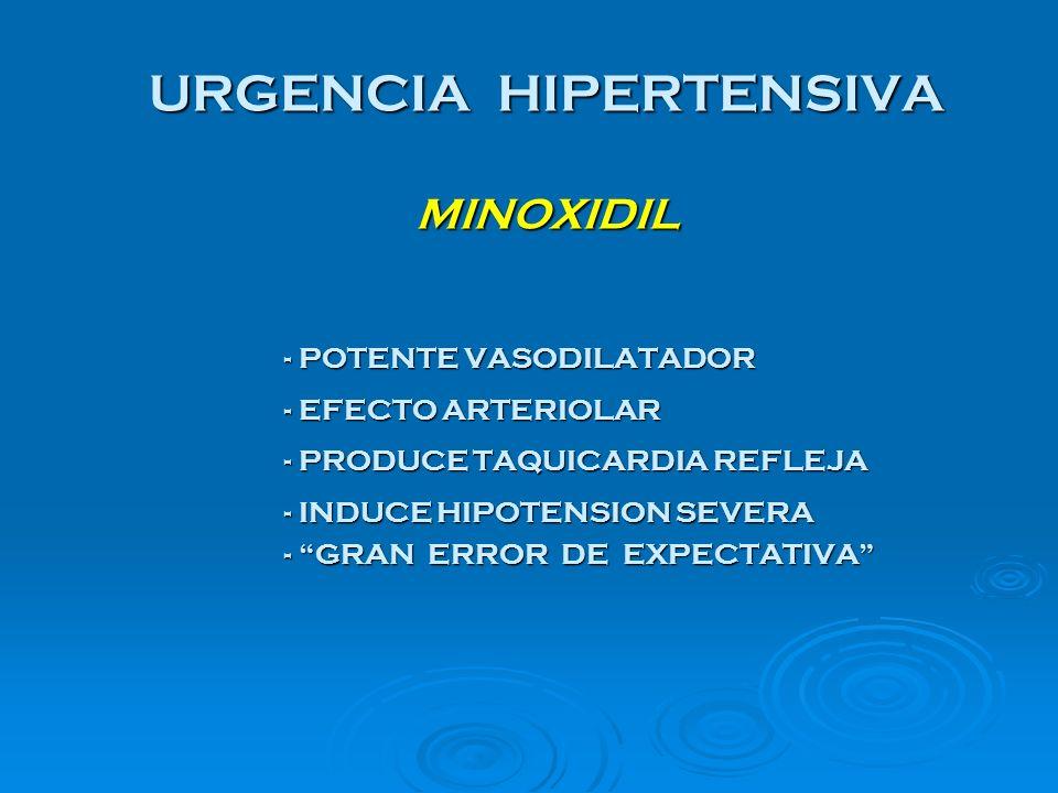 URGENCIA HIPERTENSIVA MINOXIDIL