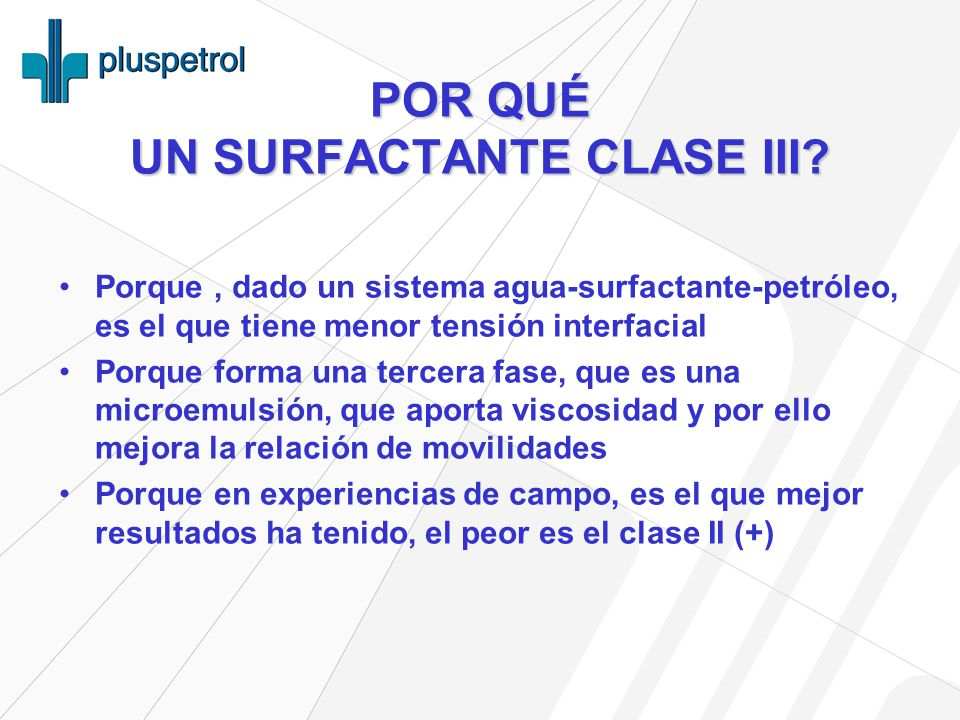POR QUÉ UN SURFACTANTE CLASE III