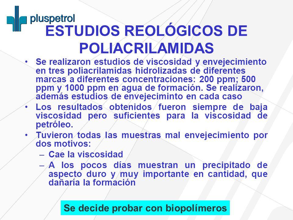 ESTUDIOS REOLÓGICOS DE POLIACRILAMIDAS