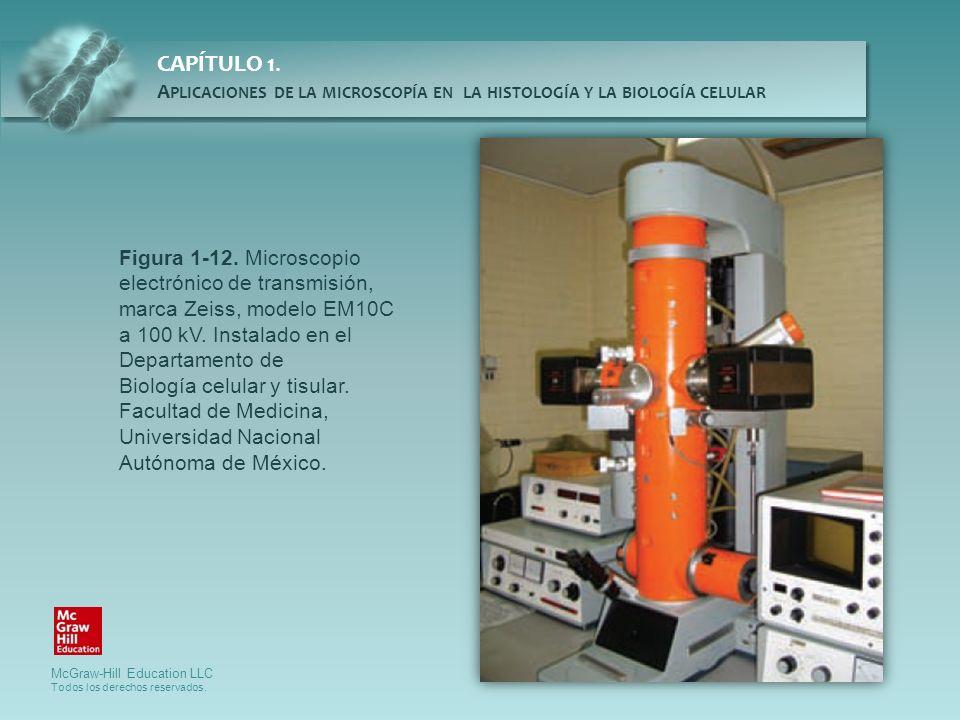 Figura 1-12. Microscopio electrónico de transmisión, marca Zeiss, modelo EM10C a 100 kV. Instalado en el Departamento de
