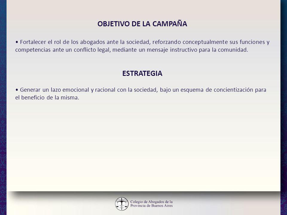 OBJETIVO DE LA CAMPAÑA ESTRATEGIA