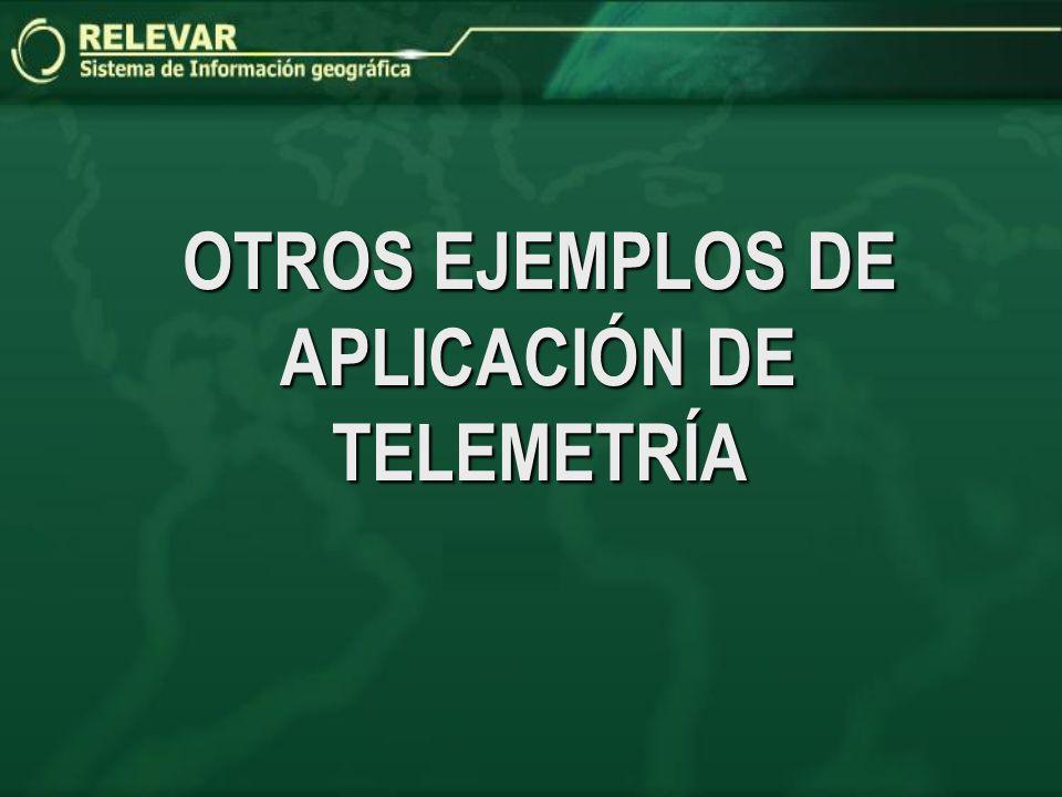 OTROS EJEMPLOS DE APLICACIÓN DE TELEMETRÍA