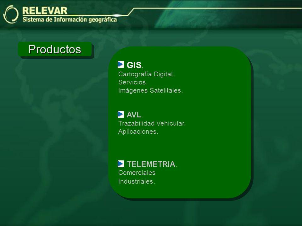 Productos GIS. AVL. TELEMETRIA. Cartografía Digital. Servicios.