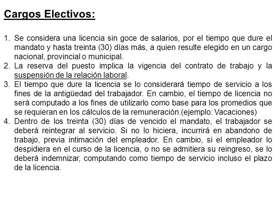 Cargos Electivos: