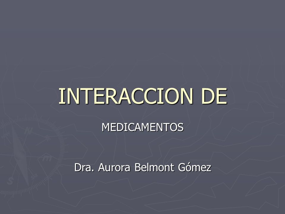 MEDICAMENTOS Dra. Aurora Belmont Gómez