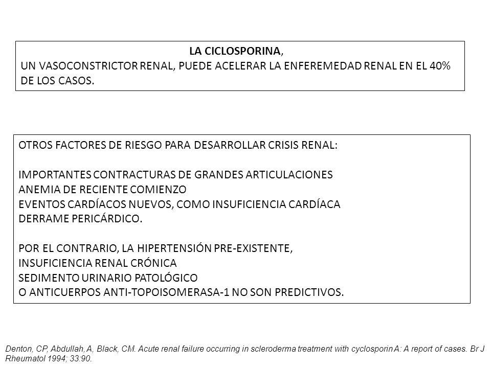OTROS FACTORES DE RIESGO PARA DESARROLLAR CRISIS RENAL:
