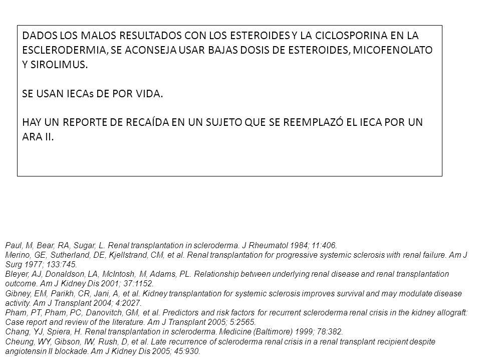 SE USAN IECAs DE POR VIDA.