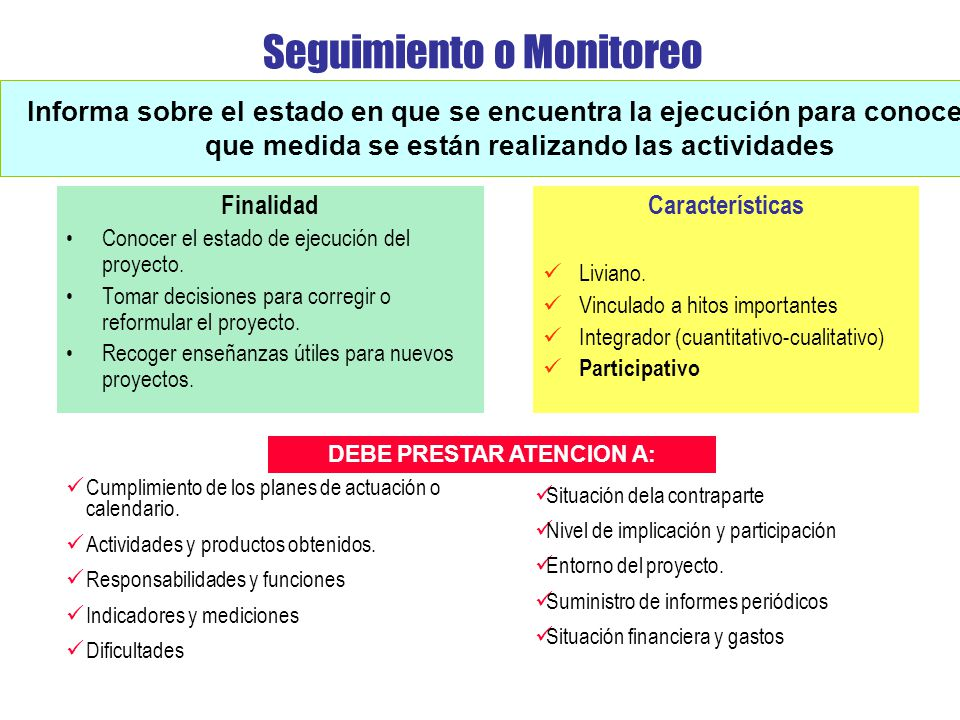 Seguimiento o Monitoreo