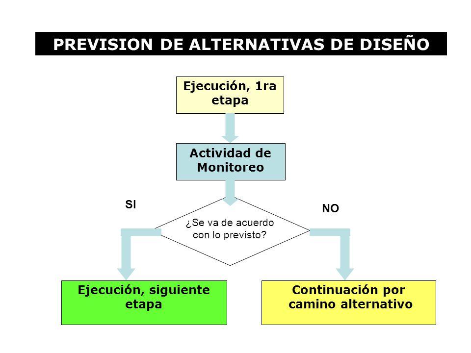 PREVISION DE ALTERNATIVAS DE DISEÑO