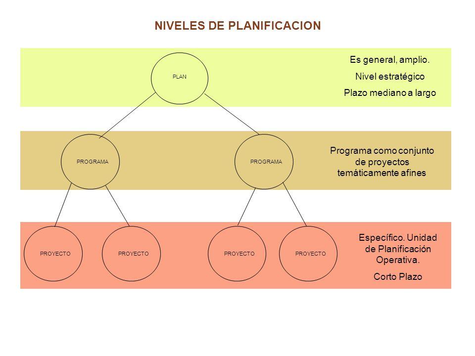 NIVELES DE PLANIFICACION