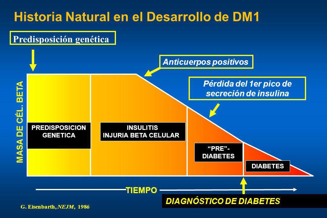 Pérdida del 1er pico de secreción de insulina PREDISPOSICION GENETICA