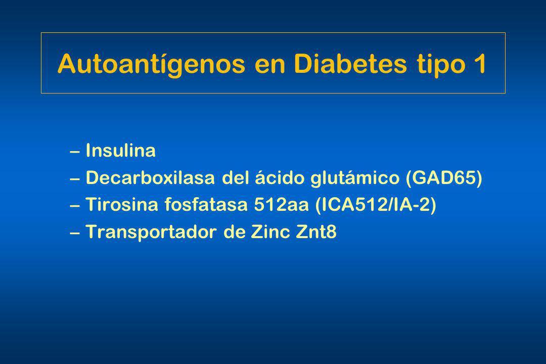 Autoantígenos en Diabetes tipo 1