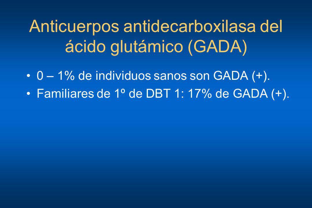 Anticuerpos antidecarboxilasa del ácido glutámico (GADA)