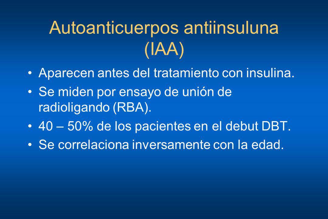 Autoanticuerpos antiinsuluna (IAA)