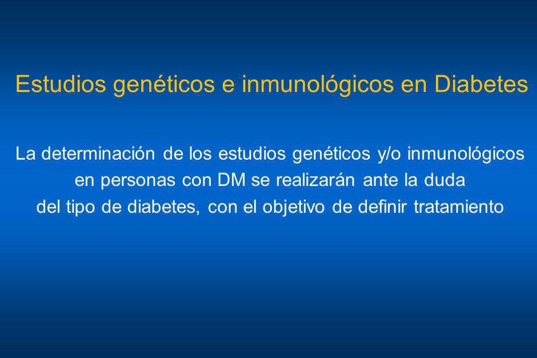 Estudios genéticos e inmunológicos en Diabetes