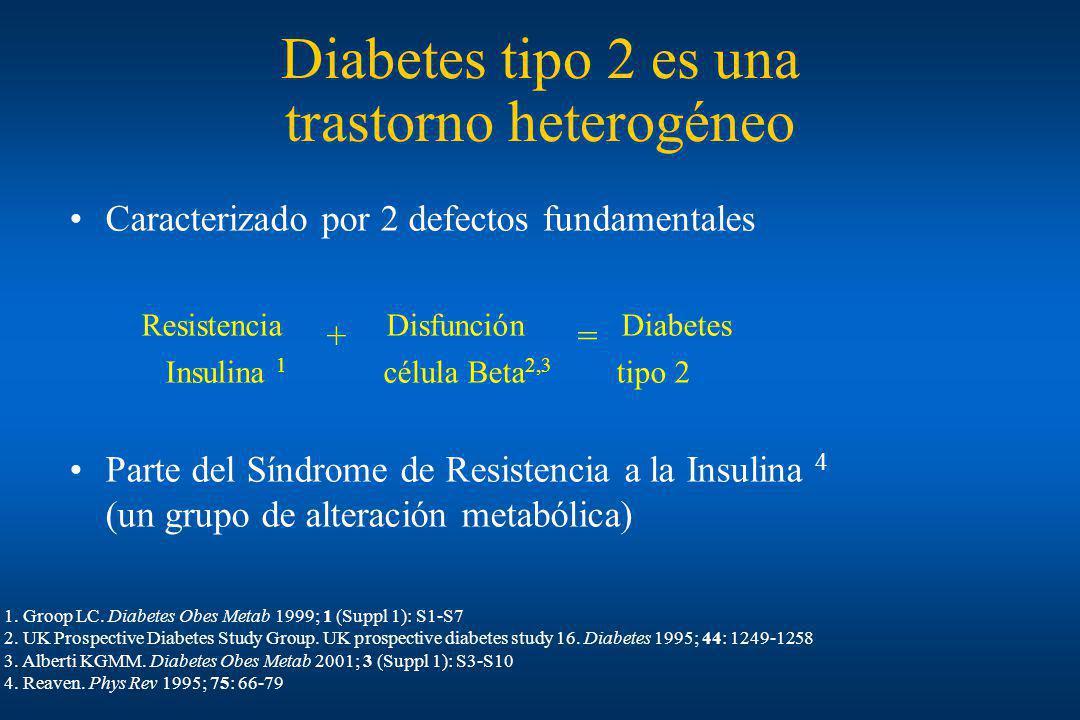 Diabetes tipo 2 es una trastorno heterogéneo