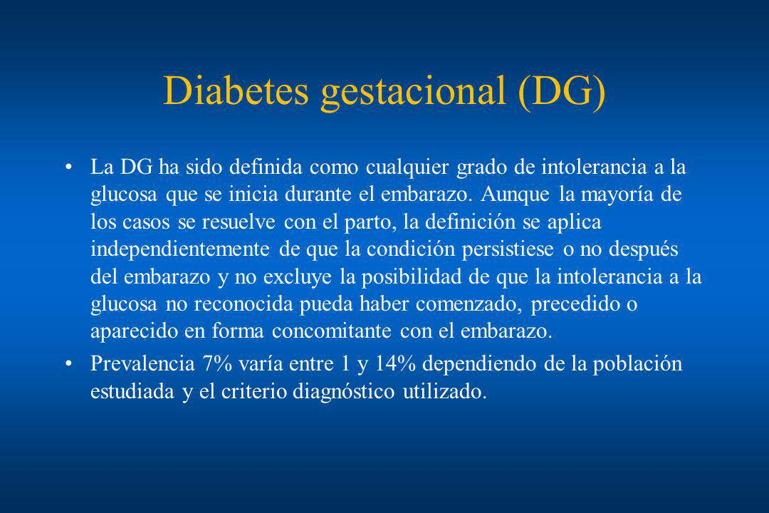 Diabetes gestacional (DG)