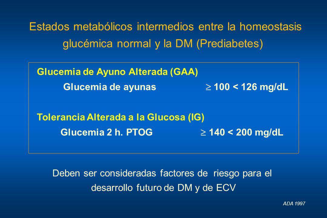 Estados metabólicos intermedios entre la homeostasis