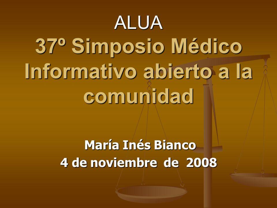 ALUA 37º Simposio Médico Informativo abierto a la comunidad