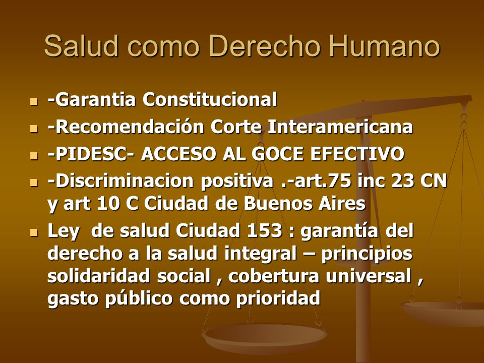 Salud como Derecho Humano