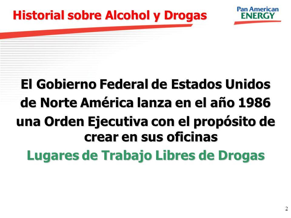 Historial sobre Alcohol y Drogas