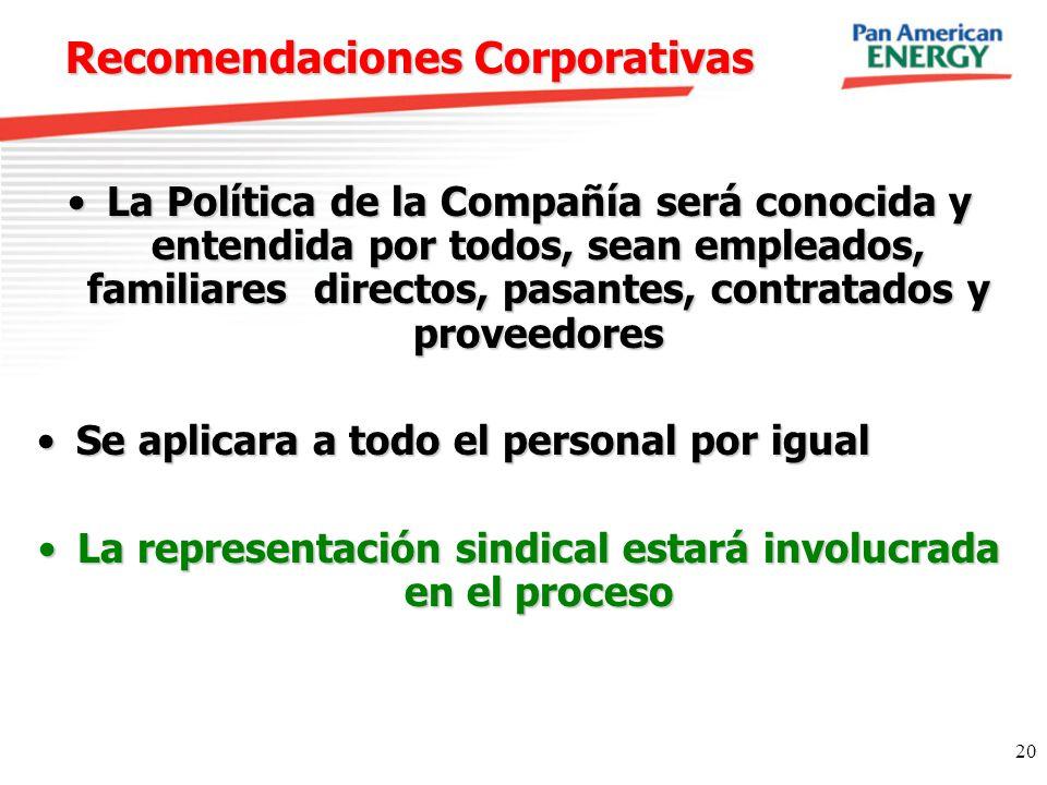 Recomendaciones Corporativas