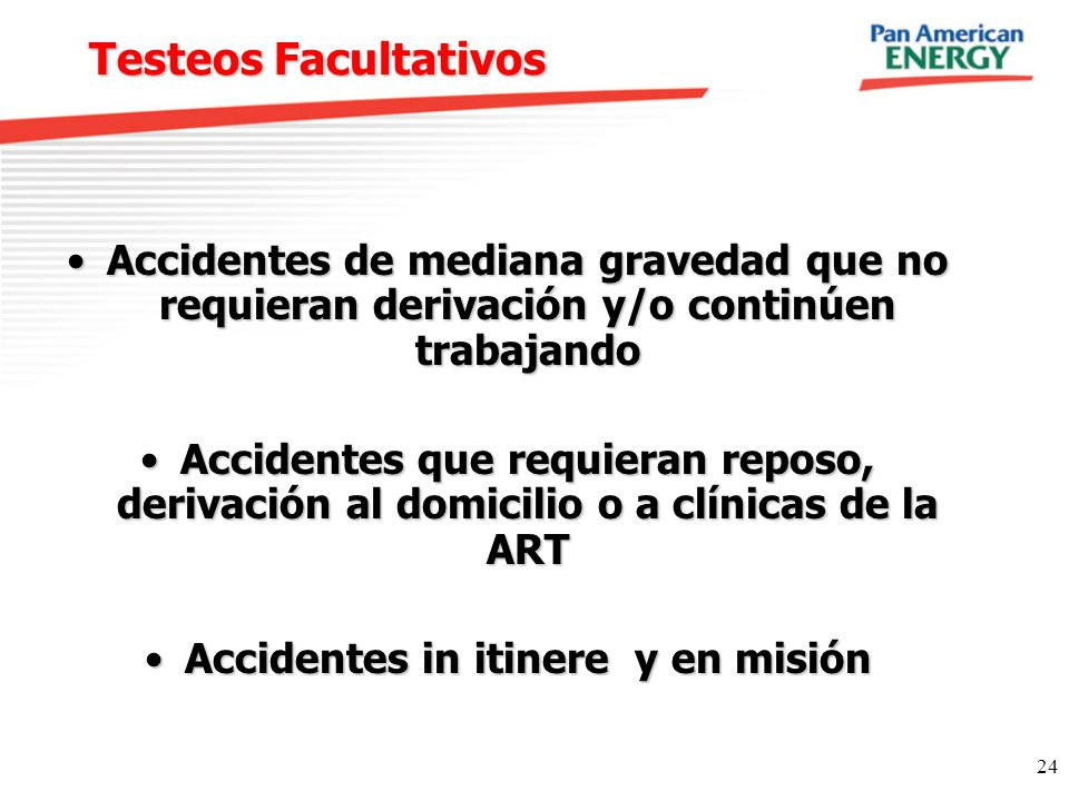 Accidentes in itinere y en misión