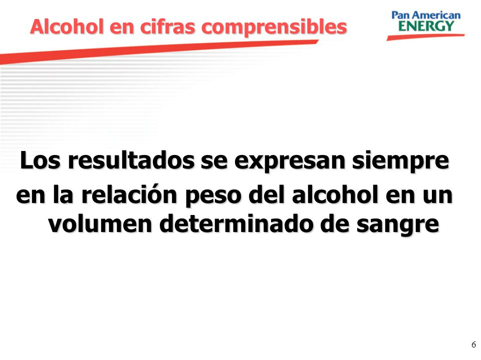 Alcohol en cifras comprensibles