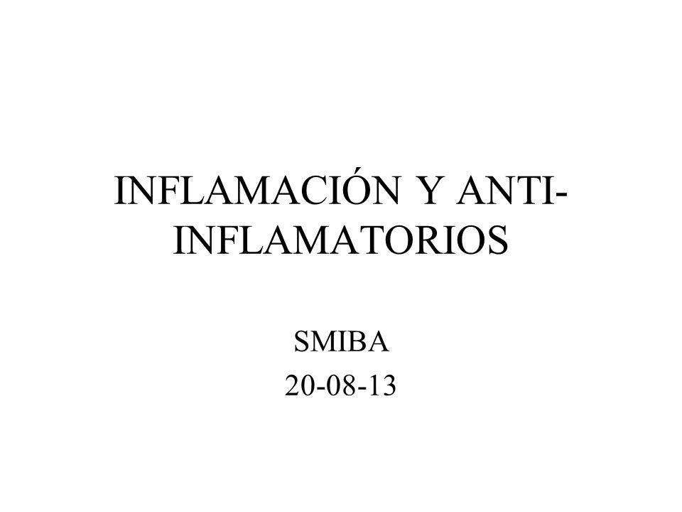 INFLAMACIÓN Y ANTI-INFLAMATORIOS