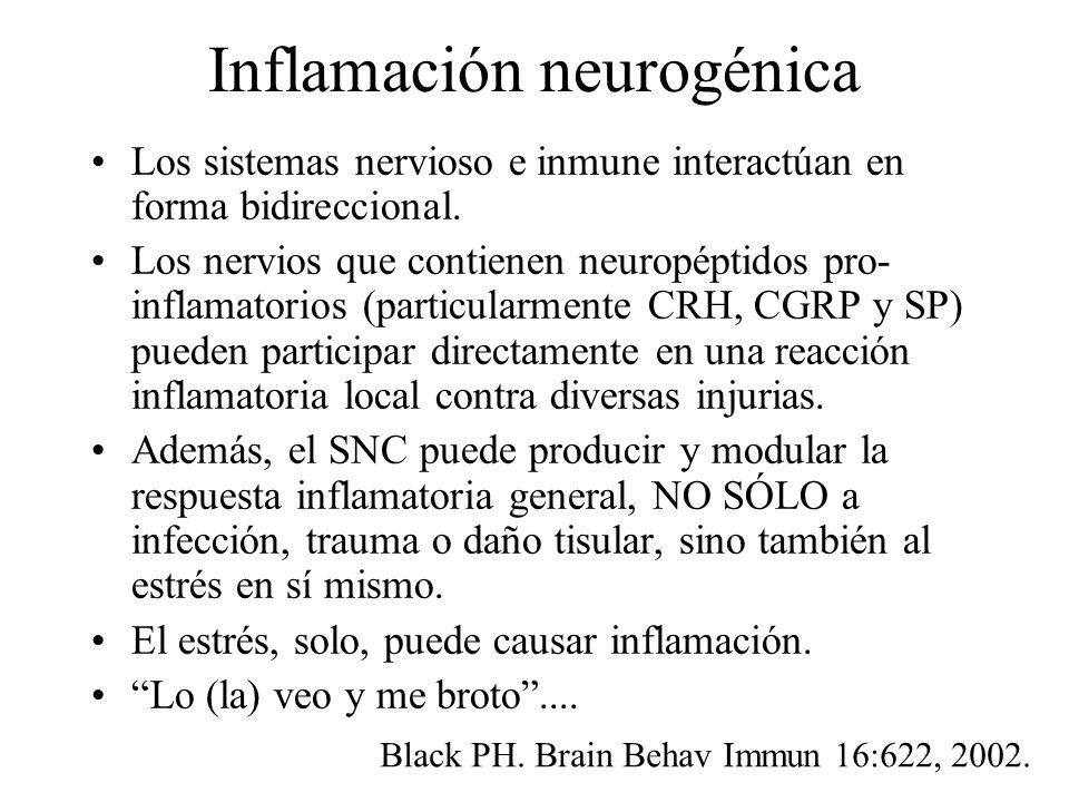 Inflamación neurogénica