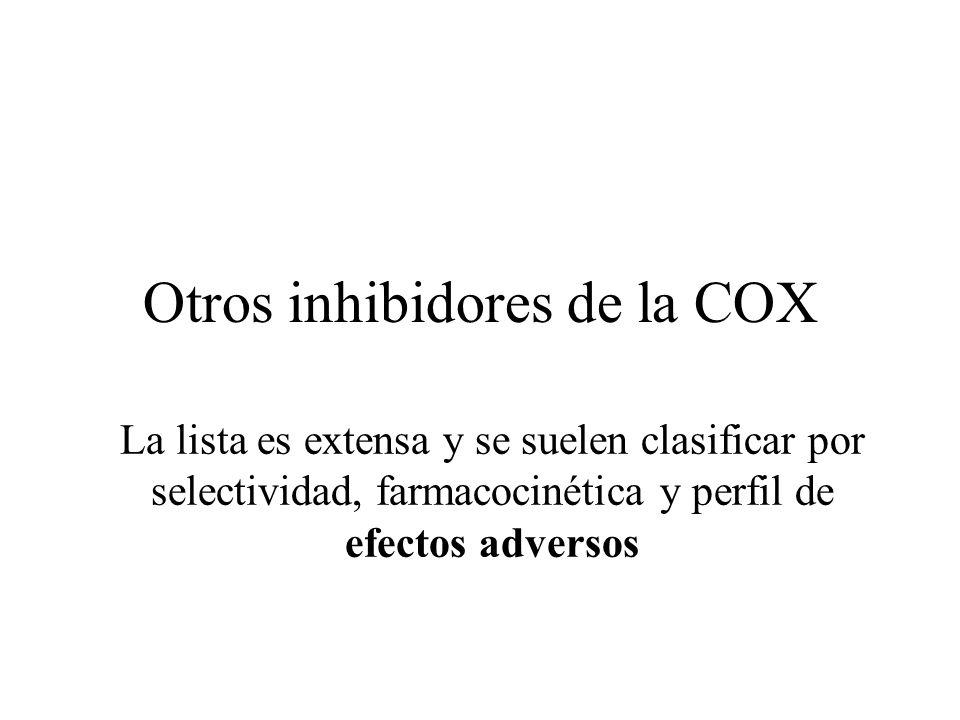 Otros inhibidores de la COX