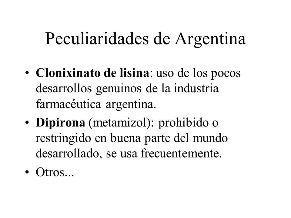 Peculiaridades de Argentina