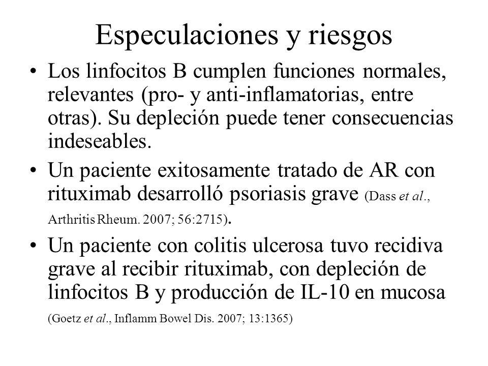 Especulaciones y riesgos