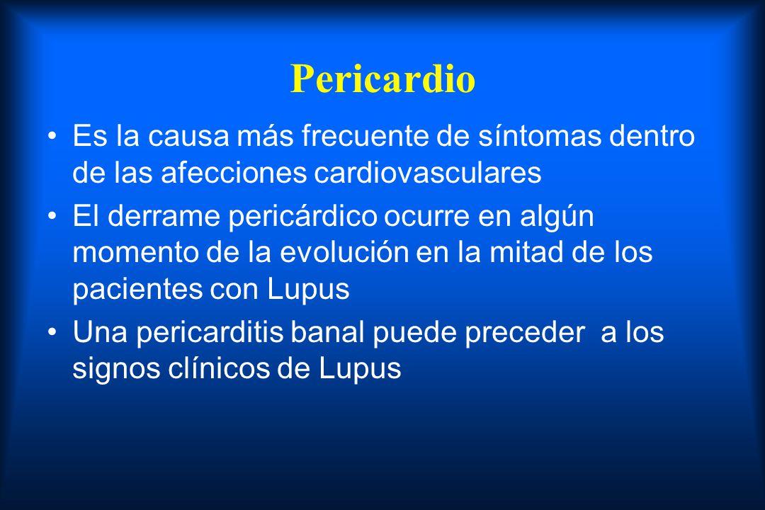 Pericardio Es la causa más frecuente de síntomas dentro de las afecciones cardiovasculares.