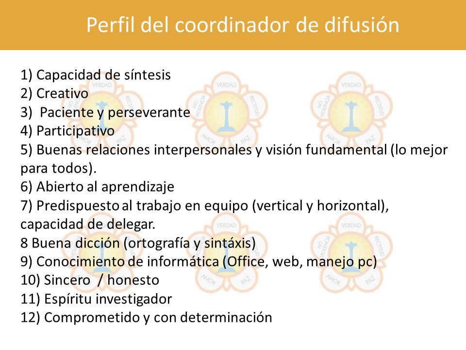 Perfil del coordinador de difusión