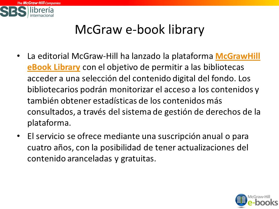 McGraw e-book library