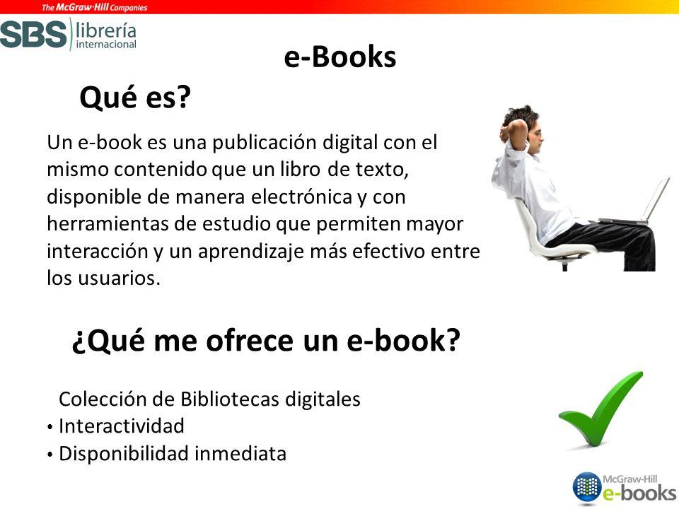 ¿Qué me ofrece un e-book