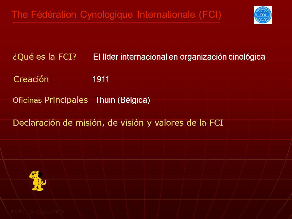The Fédération Cynologique Internationale (FCI)