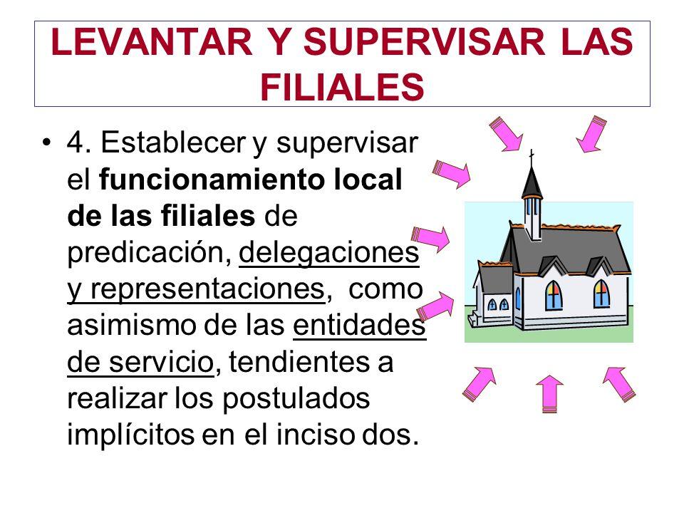 LEVANTAR Y SUPERVISAR LAS FILIALES