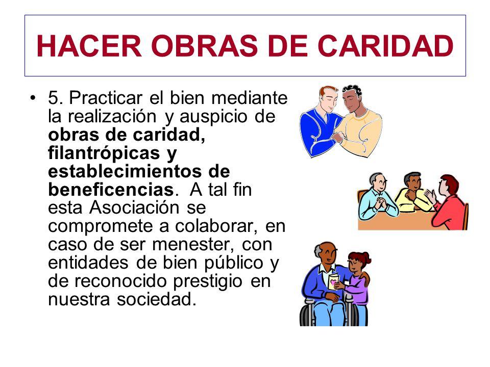 HACER OBRAS DE CARIDAD