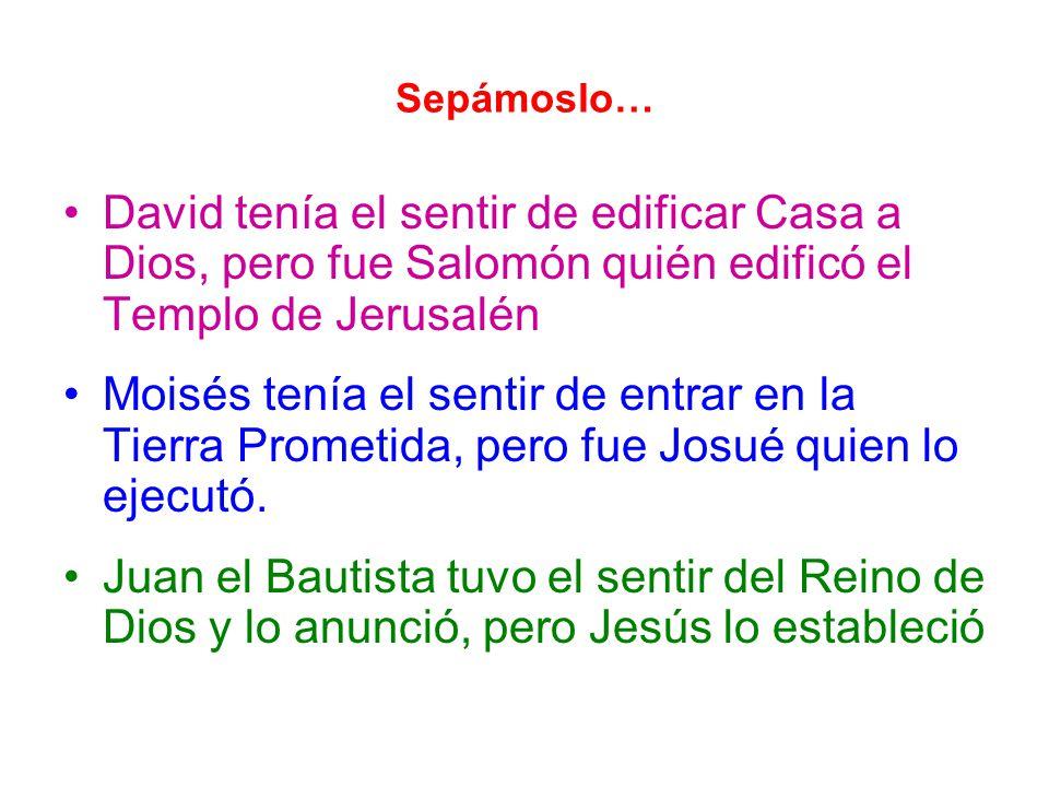 Sepámoslo… David tenía el sentir de edificar Casa a Dios, pero fue Salomón quién edificó el Templo de Jerusalén.