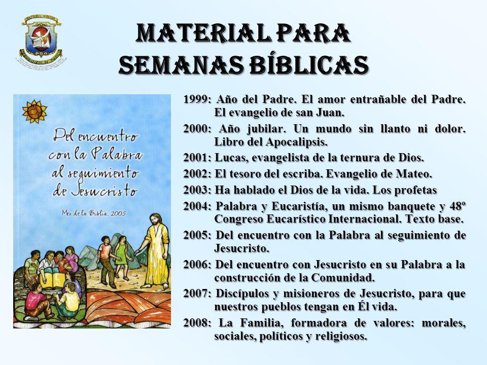 MATERIAL PARA SEMANAS BÍBLICAS