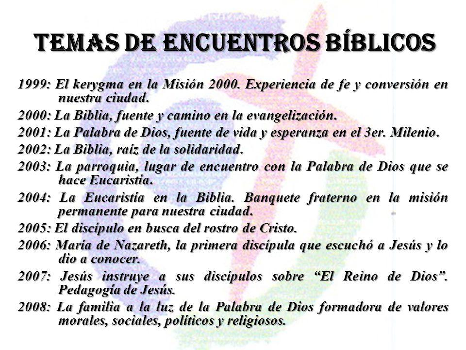 TEMAS DE ENCUENTROS BÍBLICOS