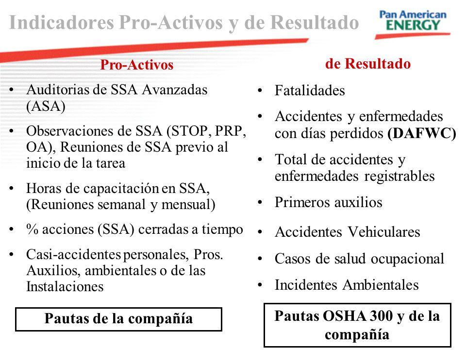 Indicadores Pro-Activos y de Resultado