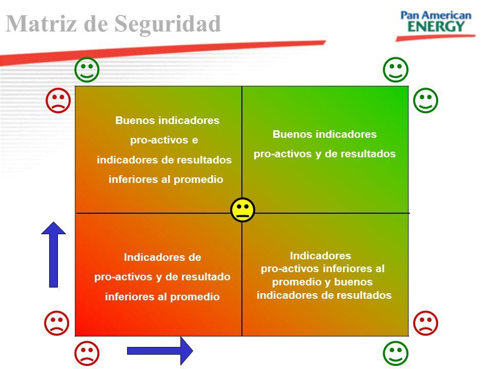 Matriz de Seguridad Buenos indicadores Buenos indicadores