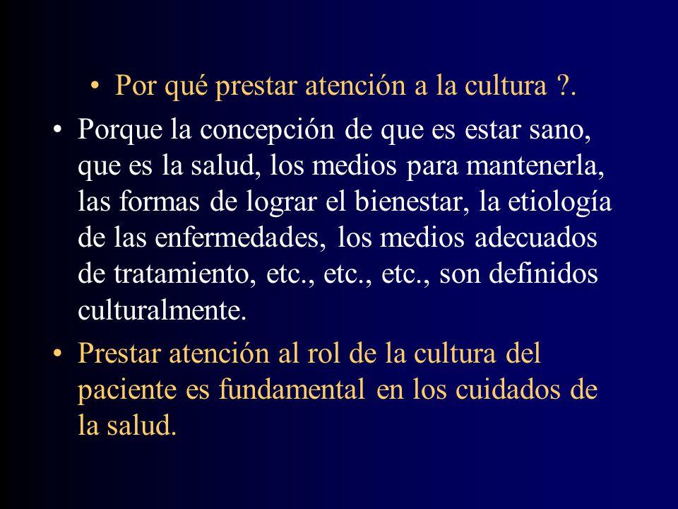 Por qué prestar atención a la cultura .