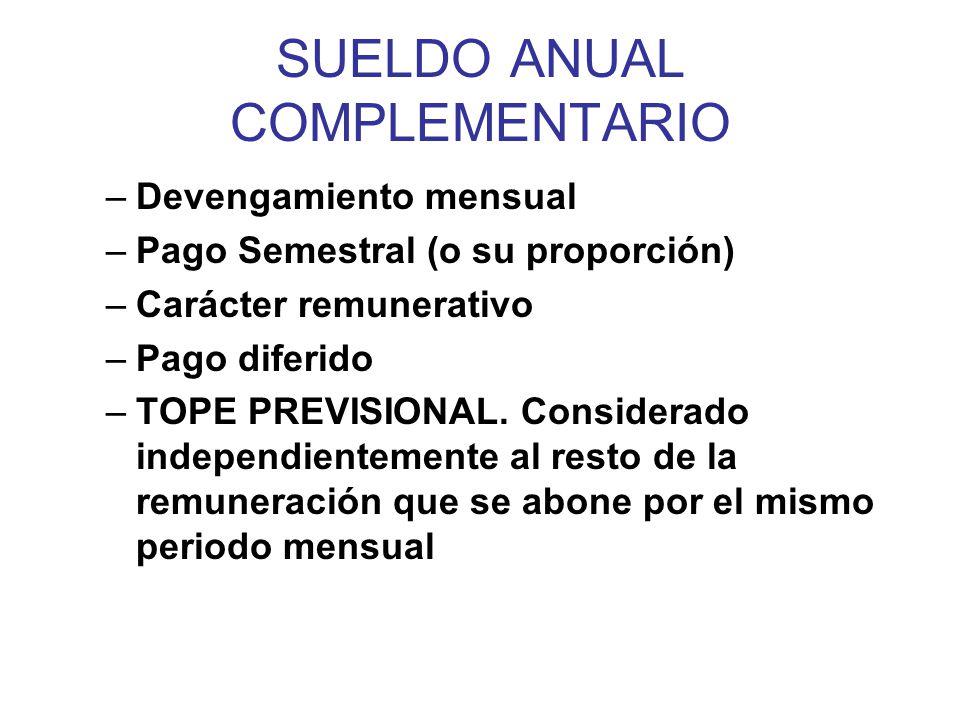 SUELDO ANUAL COMPLEMENTARIO