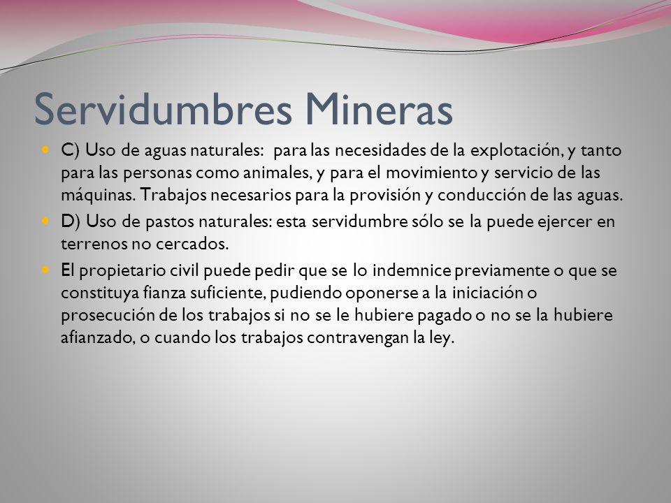 Servidumbres Mineras